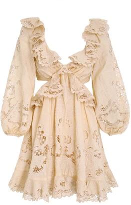Zimmermann Brighton Scallop Mini Dress
