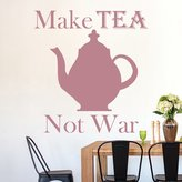 IconWallStickers Make Tea Not War Teapot Peace Wall Quote Wall Stickers Kitchen Décor Art Decals available in 5 Sizes and 25 Colours X-Small Ivory Beige