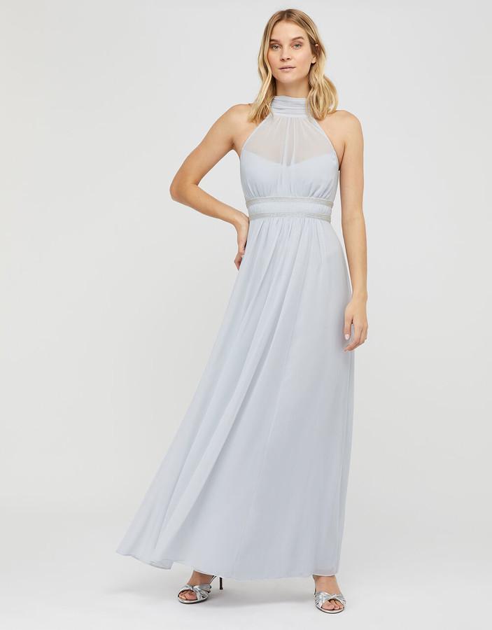 Under Armour Marion Halter Embellished Maxi Dress Blue