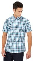 Maine New England Green And Blue Gingham Print Shirt
