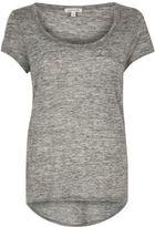 River Island Womens Grey scoop neck T-shirt