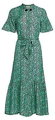 Figue Women's Saskia Floral Silk Shirtdress