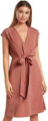 Forever New Channa Tie Detail Midi Dress