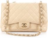 Chanel Beige Caviar Jumbo Single Flap Bag