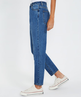 Insight Callee Classic Mom Jeans Blue Shadow