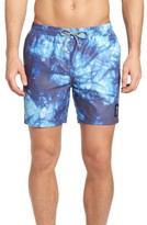 Globe Men's Evil Paradise Print Swim Trunks