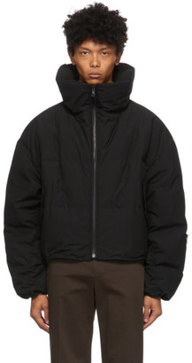 System Black Down High Neck Puffer Jacket