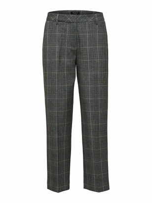 Selected Women's SLFEMILO MW Cropped Pant MGM B Trouser