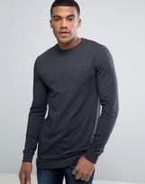 Asos Muscle Longline Sweatshirt