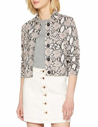 New Look Women's Snake Printed Trucker6138736 Jacket