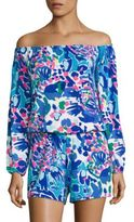 Lilly Pulitzer Lana Off-The-Shoulder Romper