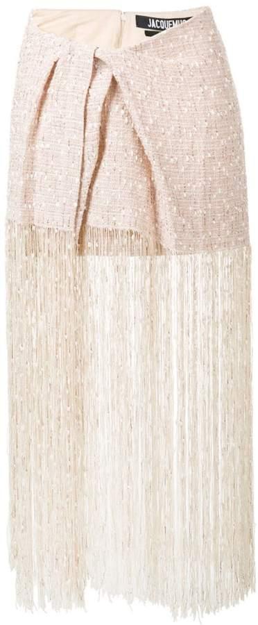 Jacquemus fringed skirt