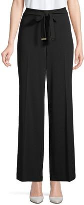 Calvin Klein Self-Tie Wide-Leg Pants