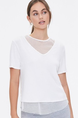 Forever 21 Active Mesh-Trim Combo Tee