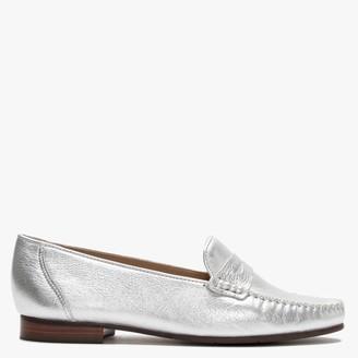 Daniel Glissa Silver Metallic Leather Loafers