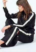 Monrow Track Jacket With Contrast Stripe Sleeves