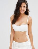 Coco Rave Ruched Bandeau Bikini Top