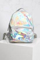 Rare Silver PU Hologram Backpack