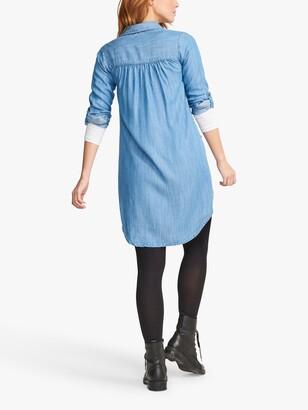 Fat Face FatFace Harper Denim Shirt Midi Dress, Blue