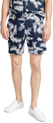 Club Monaco Baxter Bosque Leaves Print Shorts
