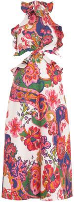Zimmermann The Lovestruck Printed Linen Midi Dress