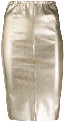 Zadig & Voltaire Jaden metallic pencil skirt