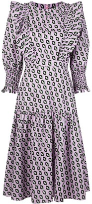 Cynthia Rowley Campbell ruffled midi dress