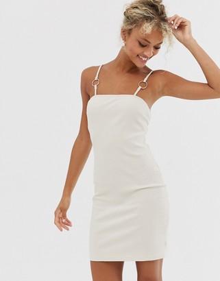 Glamorous cami dress with ring detail-Cream
