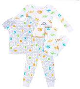 Rosie Pope® 4-Piece Dinosaurs Pajama Set in White