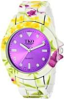 TKO ORLOGI Women's TK642PR Floral Analog Display Quartz Multi-Color Watch