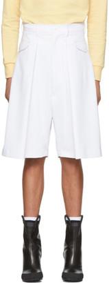 Random Identities White Hip Pocket Shorts