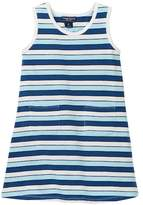 Toobydoo Positano Blue Striped Tank Dress (Toddler Girls)