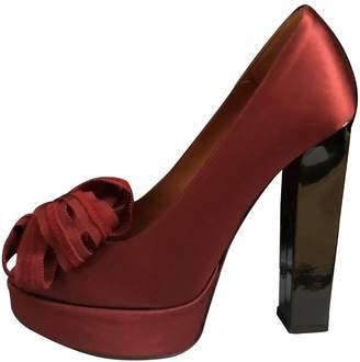 Lanvin Burgundy Cloth Heels