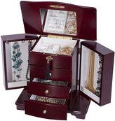 Asstd National Brand Mele & Co. Locking Cherry-Finish Jewelry Box