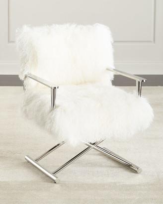 Massoud Emerson Sheepskin Director's Chair
