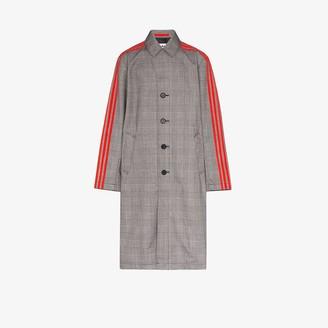 adidas 3-Stripe glen plaid coat