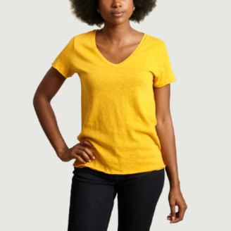 American Vintage Yellow Cotton Short Sleeves Sonoma T-shirt - cotton | yellow | small - Yellow/Yellow