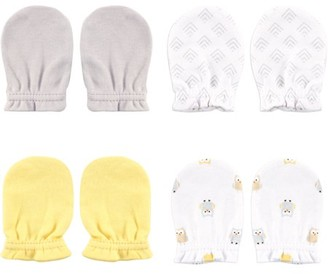 Luvable Friends Newborn Baby Boys' and Girls' Scratch Mitten 4-Pack, 0-6 months, Choose Your Color