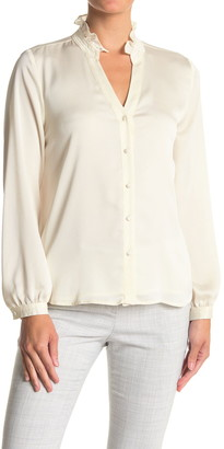 Vince Camuto Ruffled Long Sleeve Button Front Blouse