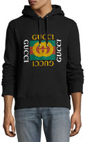 Gucci Cotton Sweatshirt w/Logo Print