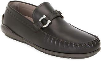 Salvatore Ferragamo Men's Tasby Leather Drivers