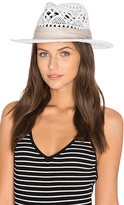 L-Space LSPACE Jet Setter Hat in White.