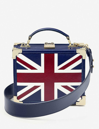 Aspinal of London Trunk mini leather clutch bag