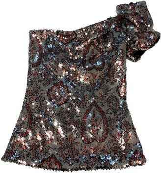 Isabel Marant Silver Glitter Tops