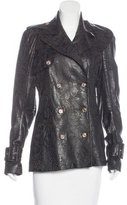 John Galliano Leather Laser Cut Jacket