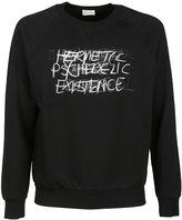Saint Laurent Black Punk Rock Sweatshirt
