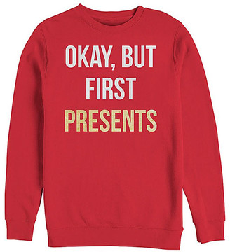 Fifth Sun Men's Sweatshirts and Hoodies RED - Red 'First Presents' Sweatshirt - Men