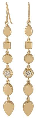 Melinda Maria Mosaic Pave CZ Geo Drop Earrings