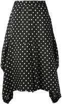 Comme des Garcons asymmetric polka dot skirt - women - Cupro - S
