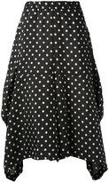 Comme des Garcons asymmetric polka dot skirt - women - Cupro - XS